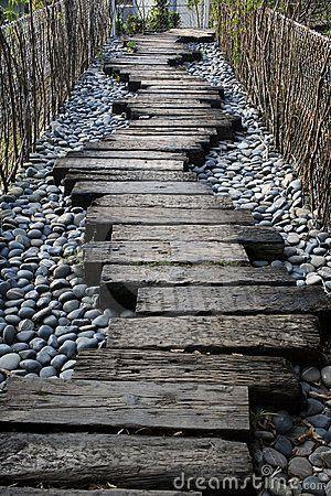 铁路枕木路径
