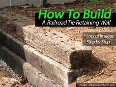 采取一些铁路领带,钢筋和砾石,并且您拥有建造简单挡土墙的所有材料,就像Such and Such Farms所做的那样。对所有人来说幸运的是,他们还记录了所有主要步骤,并附有一些精彩的图片。整个项目相对比较简单,只需要一些螺丝钻头,大钻头和一些重锤之外的专用工具。详情请见:搭建铁路领带挡土墙