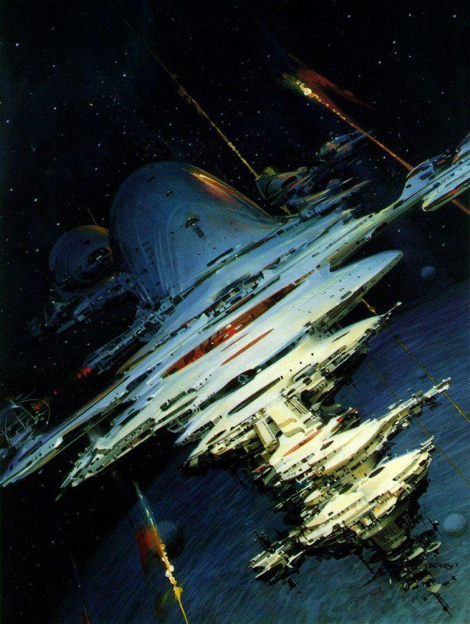 John Berkey   #science #fiction #space