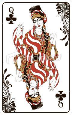 """""""扑克牌的女王俱乐部,其余的甲板可用。"""""""