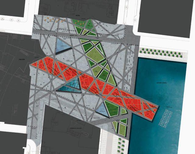 由MARTHA SCHWARTZ合作伙伴组成的大运河广场