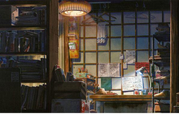 Wallpaper art, makoto shinkai, kotonoha no niwa, the garden of fine words, room