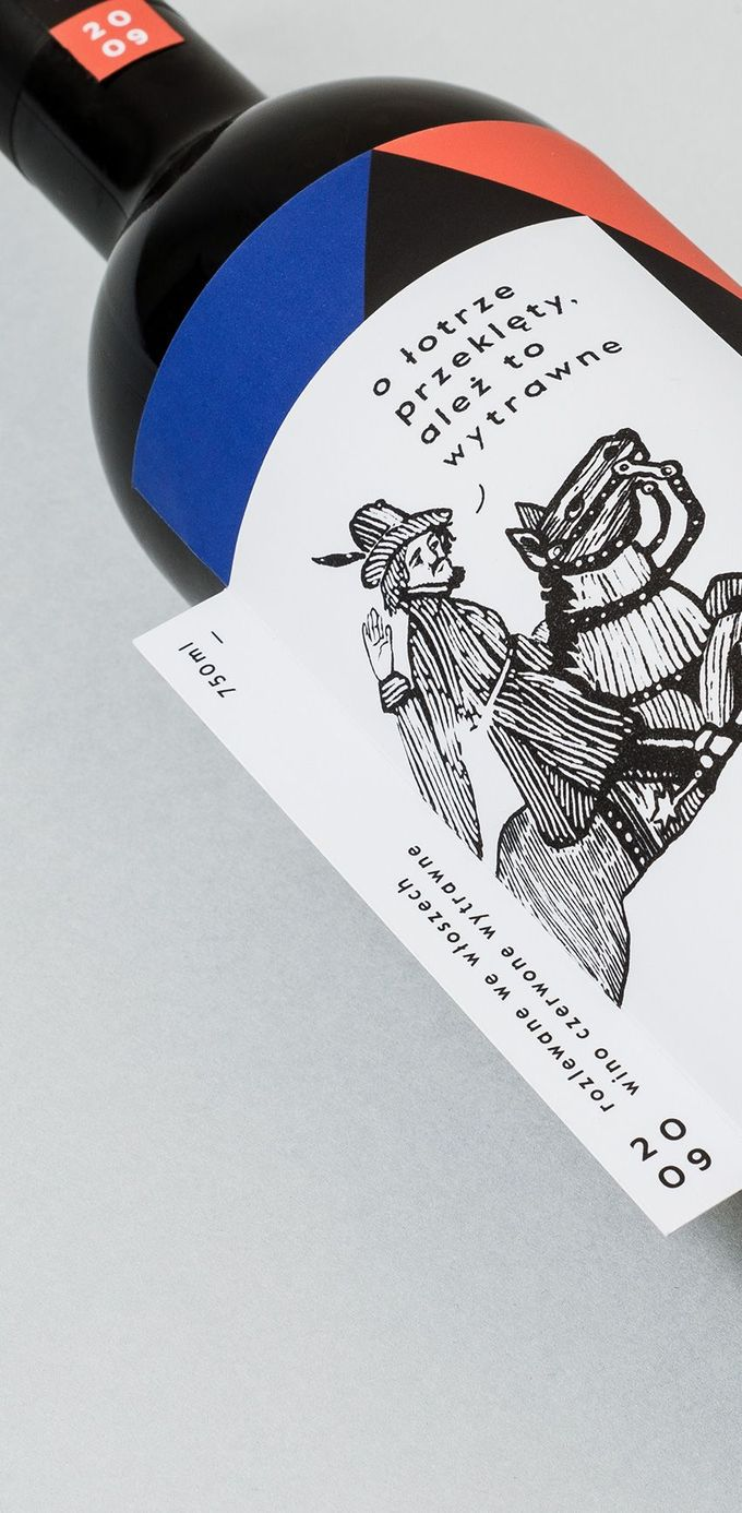 Packaging for wine label Wytrawna Robota by Hopa Studio