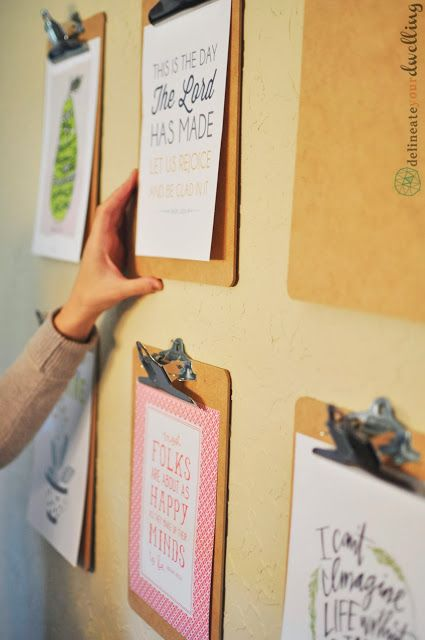 如何创建一个剪贴板画廊墙。