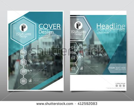 Blue hexagon technology annual report brochure flyer design template vector, Leaflet cover presentation abstract flat background, layout in A4 size