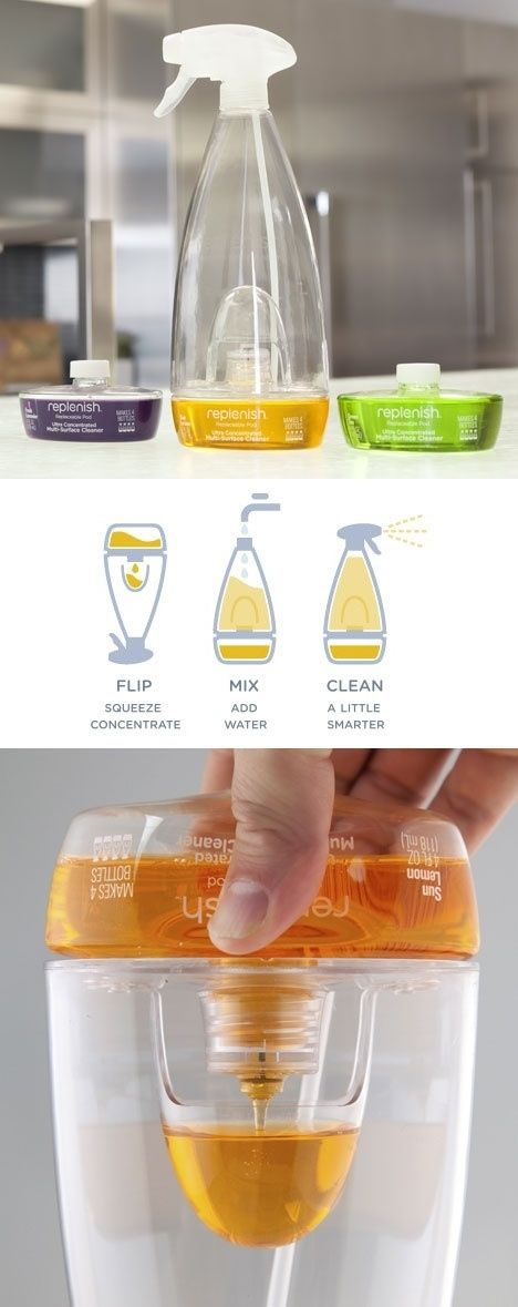 Cut down on plastic packaging with a reusable spray bottle by a new eco-conscious brand called Replenish.