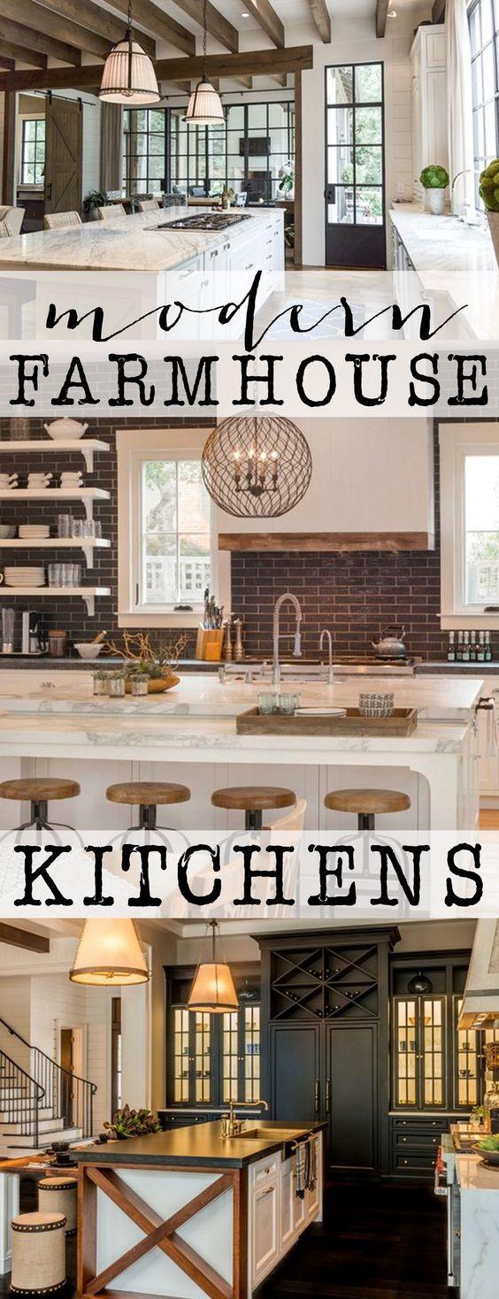 我喜欢工业和农家乐的组合,特别是在厨房里。看看这些现代化的农舍厨房,以及它们如何融入两种风格。