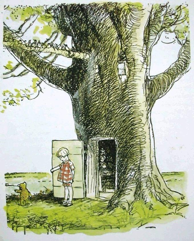 Door to hundred acre wood - E. H. Shepard