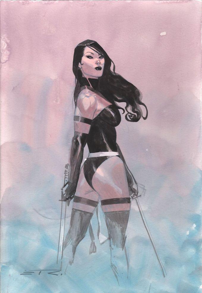Esad Ribic Psylocke Uncanny x Force Original Artwork Commission x Men Marvel | eBay