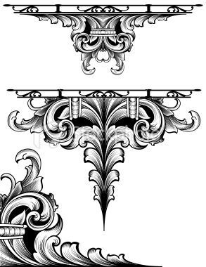 Designed by a hand engraver. Highly detailed scrollwork design...