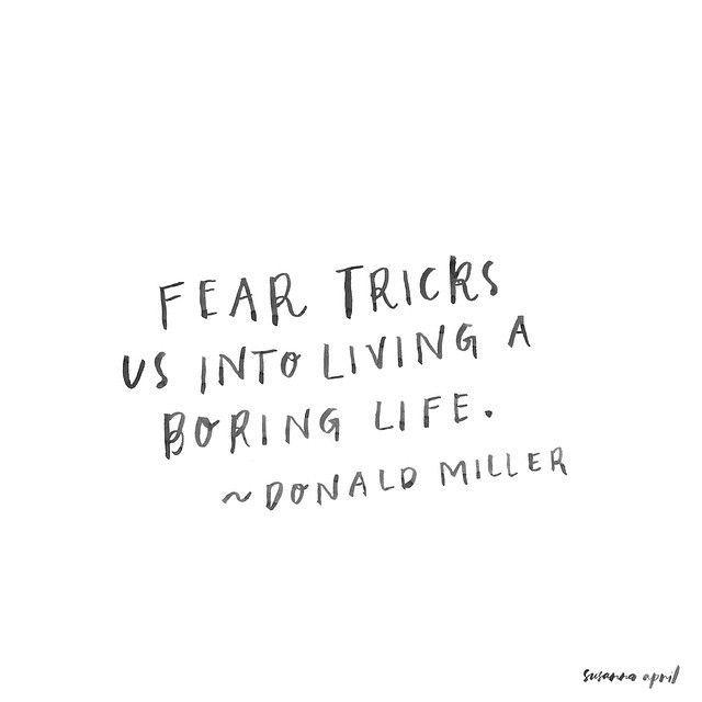 拒绝恐惧。