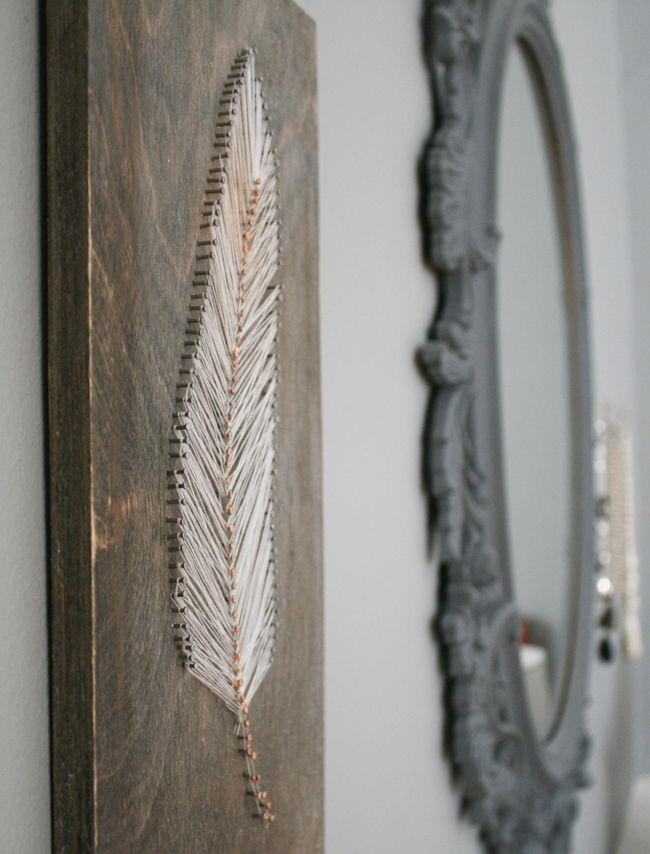 钉子和弦羽墙艺术教程