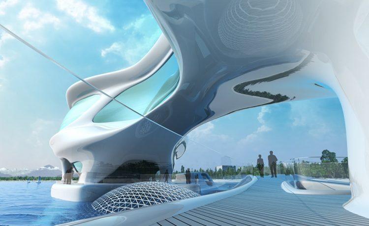 印度尼西亚海洋研究中心的未来派建筑