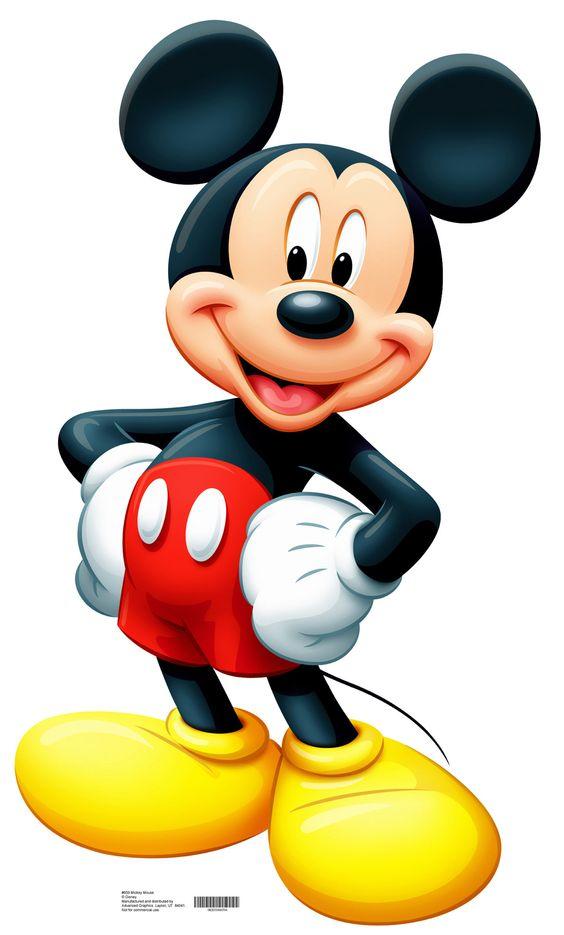 米老鼠真人大小纸板站立是完美的装饰任何房间或派对。