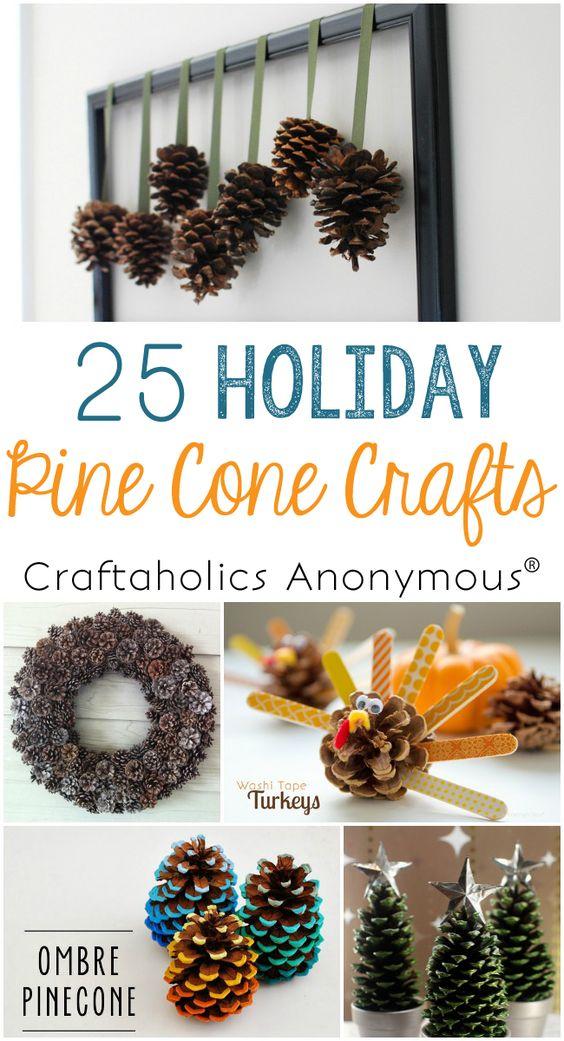 今年秋天有丰富的松果?看看这25个松果工艺品,并充分利用它们! Pinecone工艺品为假期。
