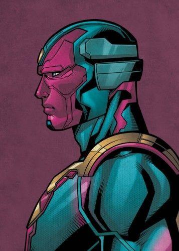 Marvel Vision金属海报 - 由金属制成的PosterPlate海报