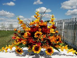 Google Image Image for http://i.ebayimg.com/t/Dads-Cemetery-Grave-Headstone-Sun-Flowers-Yellow-Rust-Fathers-Day-Arrangement-/00/%24(KGrHqUOKicE4vYSsIq)BORBHe0tJg~~0_35 .JPG