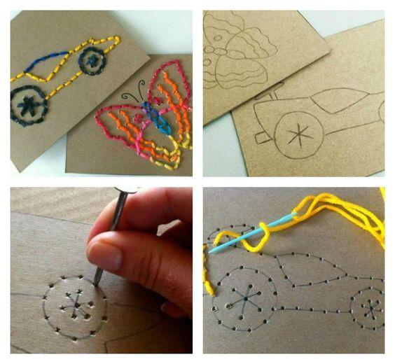 让孩子们忙碌,同时教他们一项技能!这些EASY STITCH卡片教孩子们开始缝纫技巧以及精细运动技能。