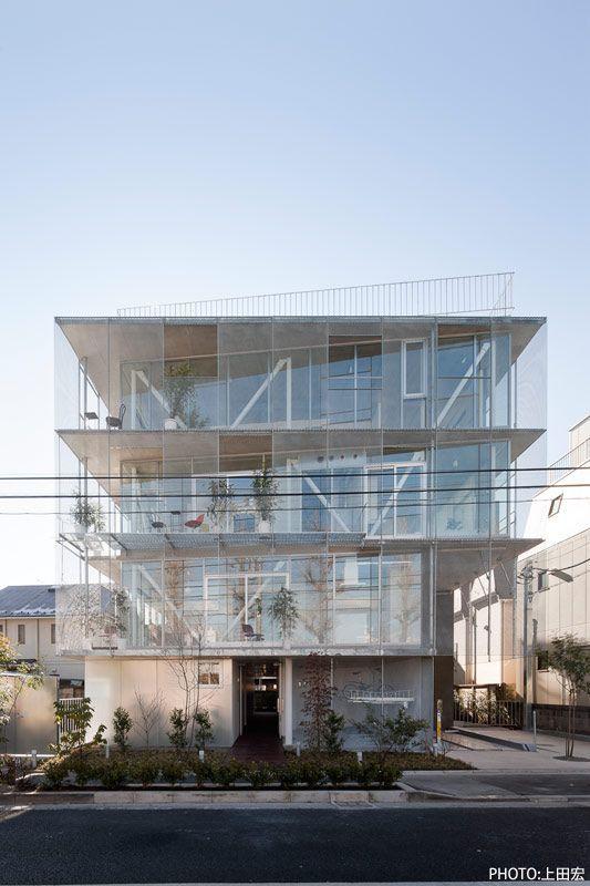Housing building in Shimouma.