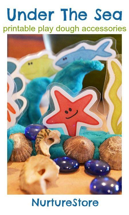 一组梦幻般的海洋生物,非常适合海洋生物面团和海洋主题。