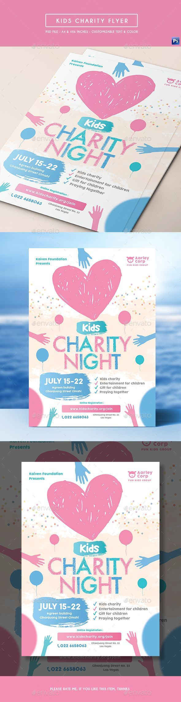 Kids Charity Flyer — Photoshop PSD #donate #corporate