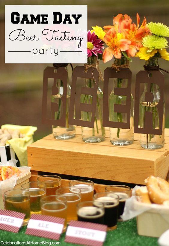 举办游戏日啤酒派对,提供这些想法,提示和图片,以激励您。包括啤酒品尝技巧和美食理念。