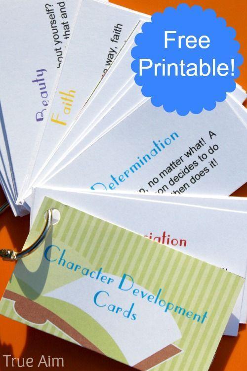 免费的可打印字符开发卡