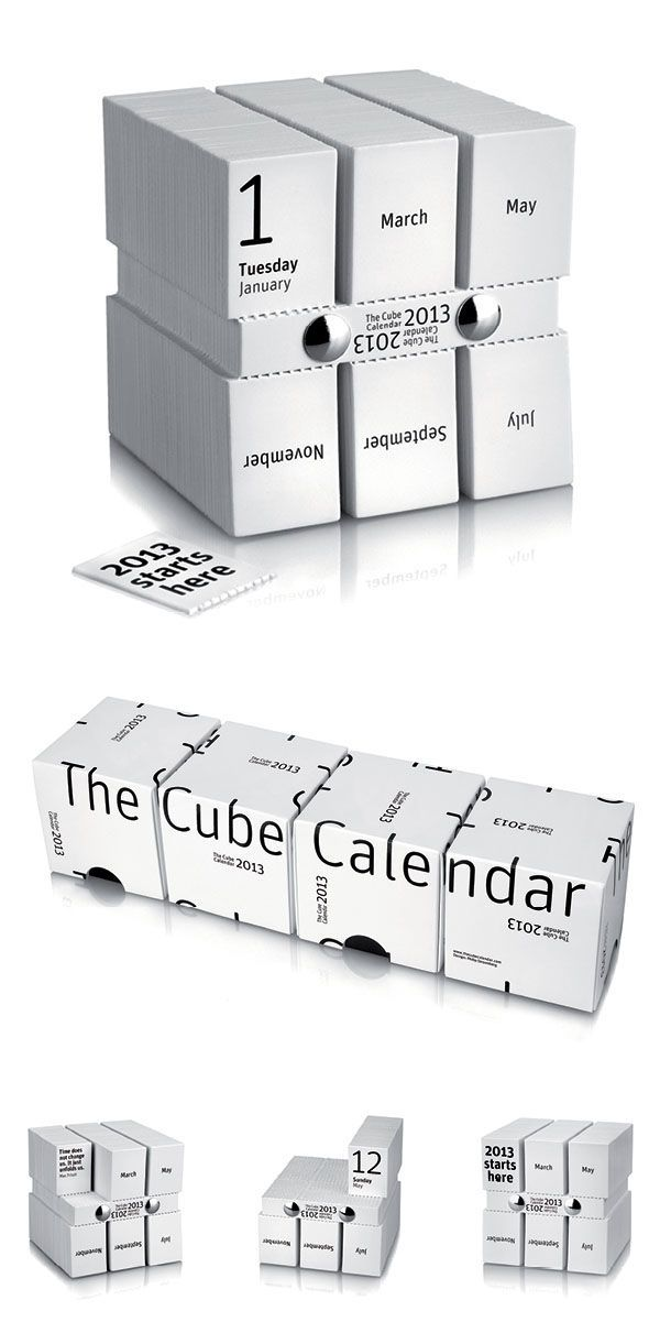 The Cube Calendar by Stroomberg (Amsterdam) PD