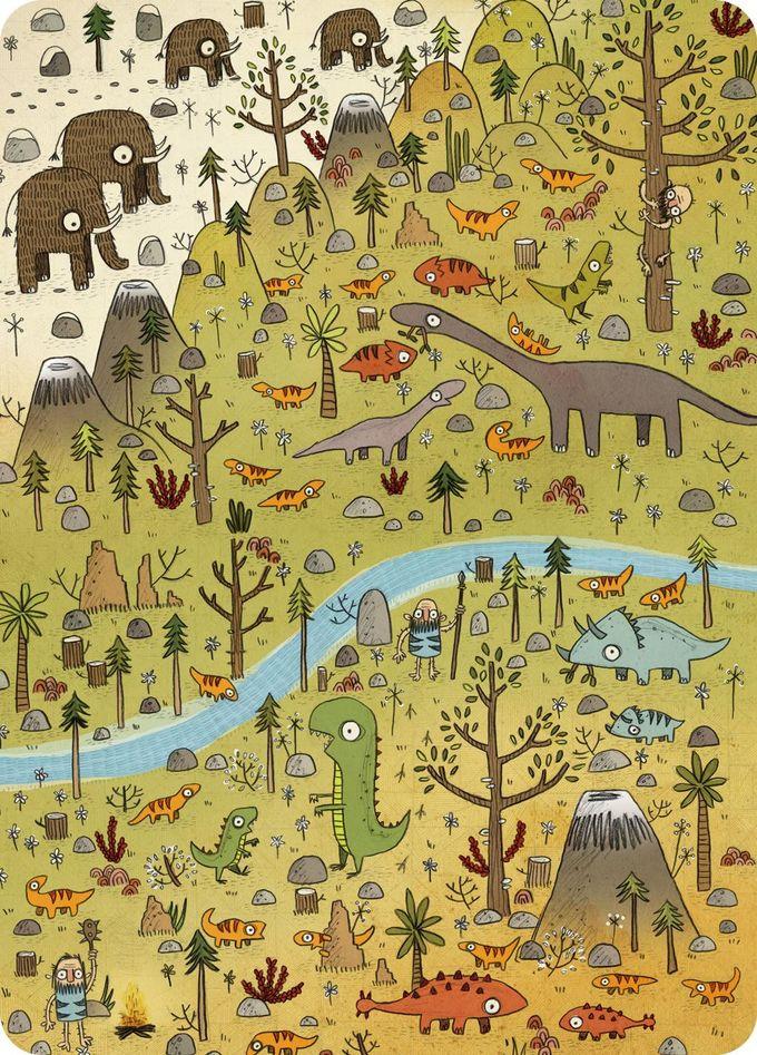 Dinosuars - Brendan Kearney Illustration