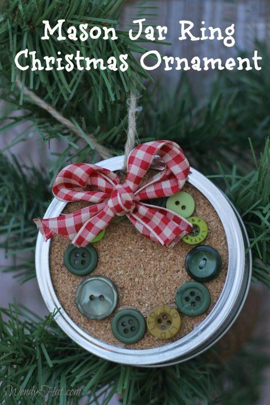 梅森罐子环圣诞节装饰品
