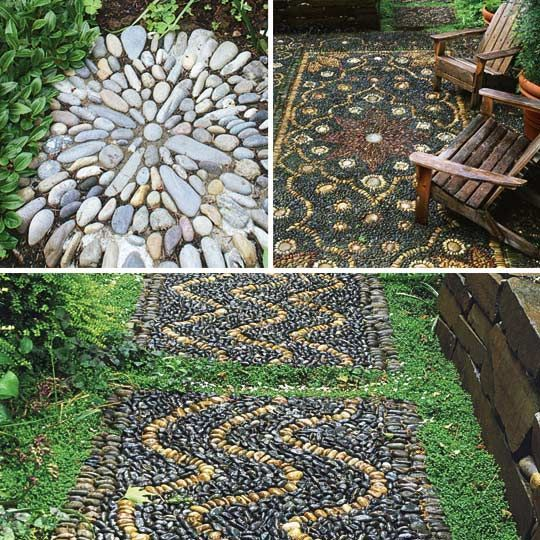 pebble mosaics for the garden