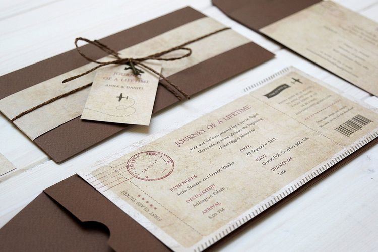 Journey Of A Lifetime Vintage Boarding Pass Travel Themed