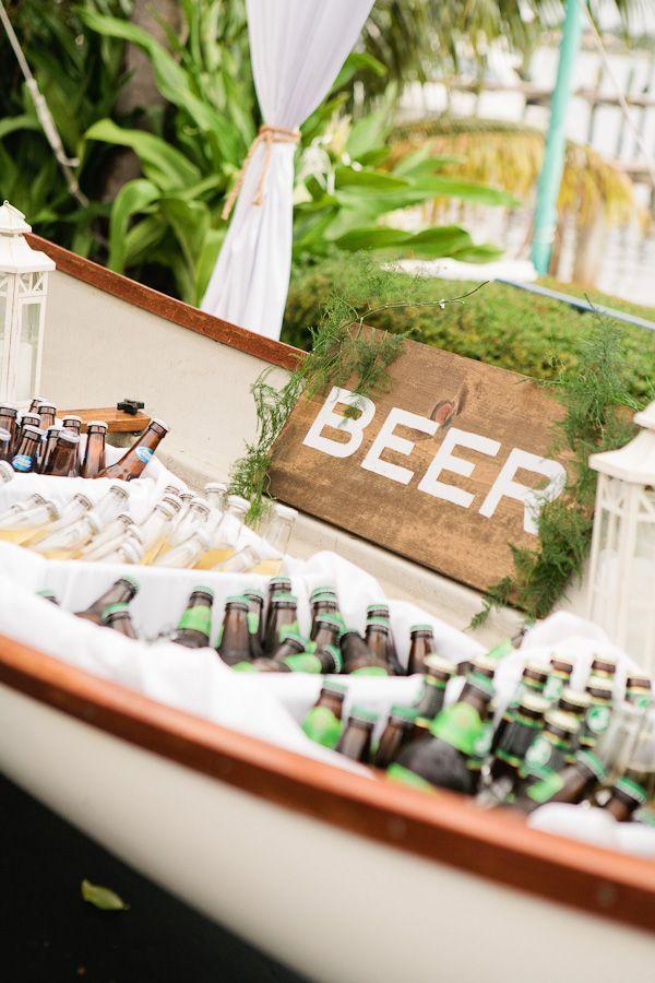 航海海滨婚礼,酒吧,船,啤酒,创意酒吧的想法,户外婚礼