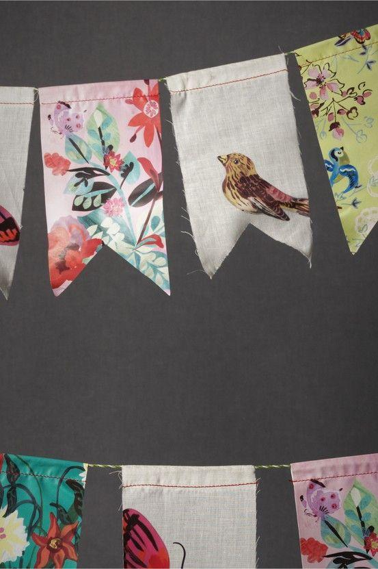 DIY想法 - 织物废料旗布