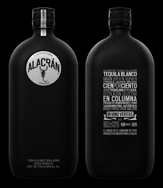 Alacrán, tequila blanco   packaging