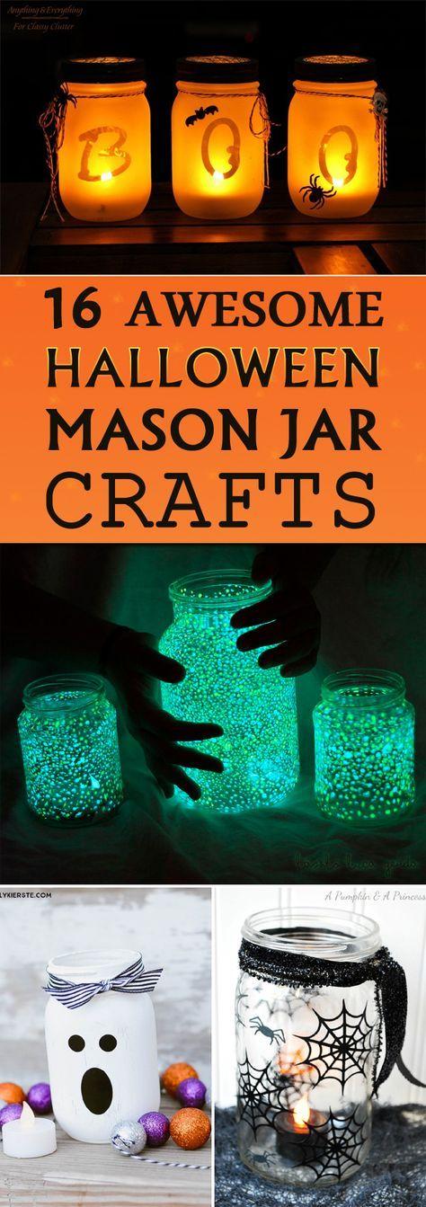 从令人毛骨悚然到令人难以忘怀的美丽,这些万圣节梅森罐子工艺品一定会在这个假日季节让你的房子更加亮丽。