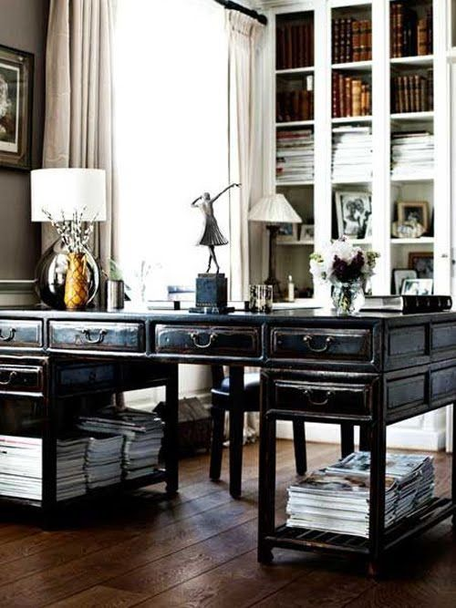 love this double-sided desk...