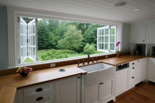 壮观的厨房窗户!