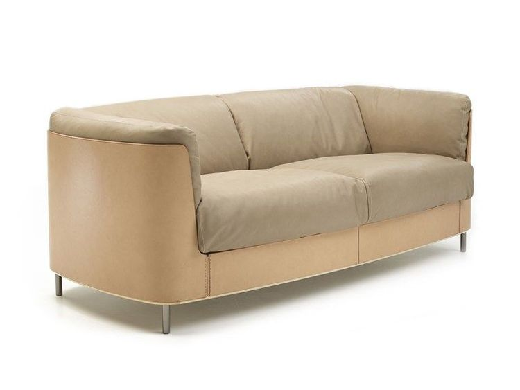 2 seater tanned leather sofa SIR CUOIO Cuoio Collection by matteograssi | design Stefano Grassi