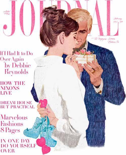 Ladies' Home Journal - February, 1960.  Illustration by Joe Bowler.