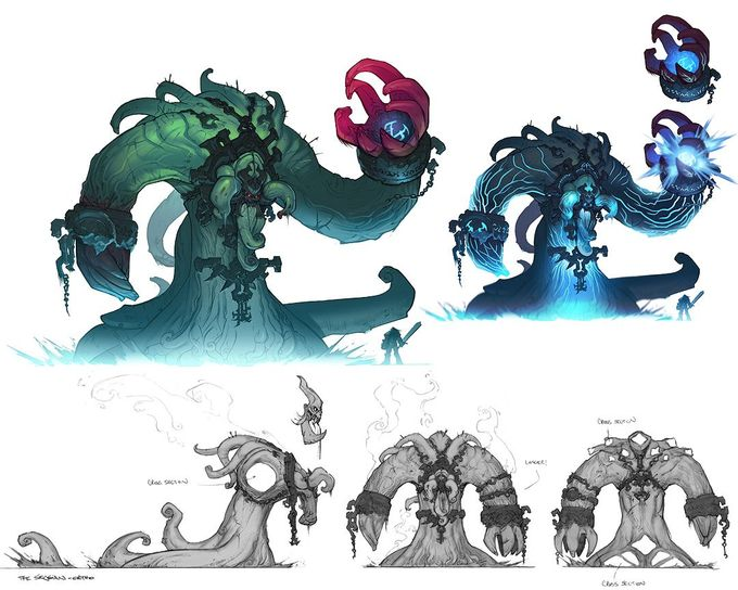 Darksiders concept art by Paul Richards 2006-2009