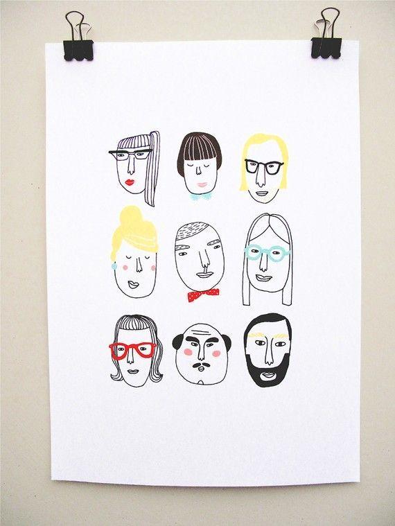 kims little monsters: print