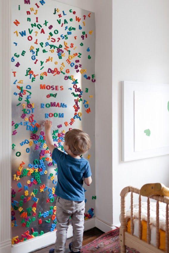 金属安装在墙上 - 为孩子们带来磁性乐趣!