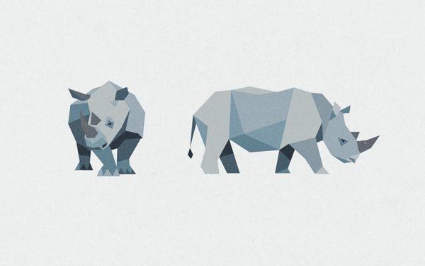 Rhino Tiger Bear by Jimmy Gleeson, via Behance