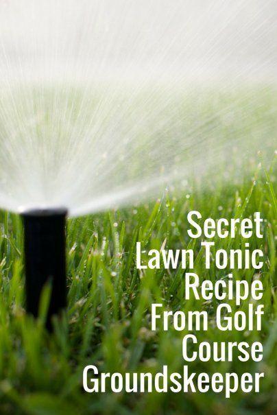 草坪滋补配方来自高尔夫球场的前田grounds。所有你需要的是5种常用的家用配料和10加仑的软管端喷雾器。