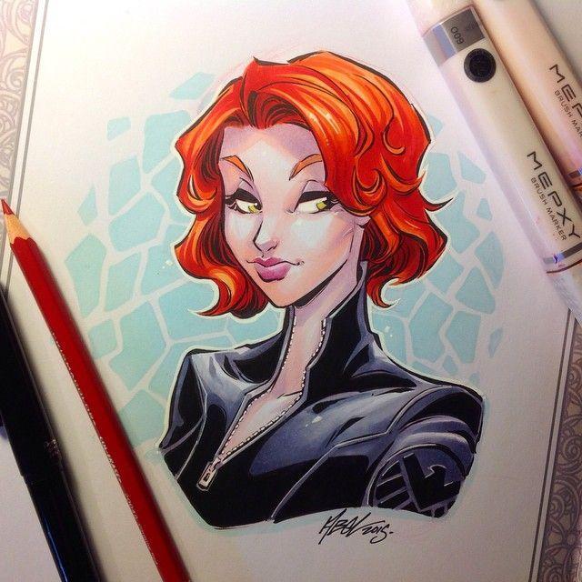 Black Widow by Martin Abel