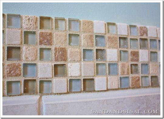 上一篇文章下一篇文章使用←→(箭头键)浏览玻璃和石材瓷砖现在在浴室设计中风靡一时。清澈的水玻璃和石头的有机温暖的闪光是设计师和房主之间最喜爱的组合。在我们家的主浴室是惊人的在我的...了解更多关于添加玻璃和石瓦片边框