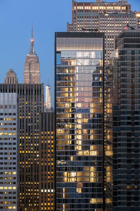 SOM's Baccarat tower in New York overlooks MoMA's sculpture garden.