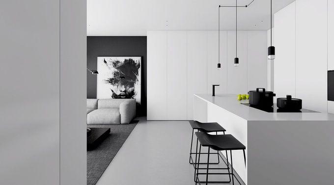 4个单色,极简空间创造黑白魔法