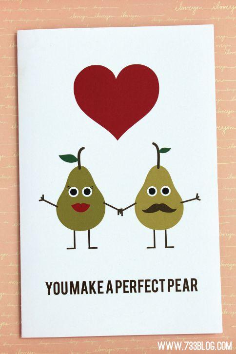 有趣的免费打印周年卡,可以加倍作为婚礼卡!请享用!